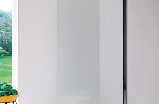 Alicudi Parete Open Space cristallo temperato 6mm con profilo a muro