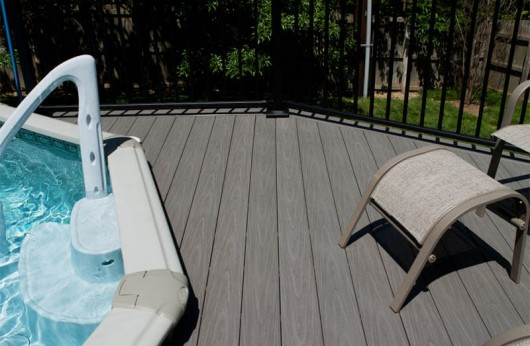 Pavimento per esterno Wpc Marrone pieno 23 mm
