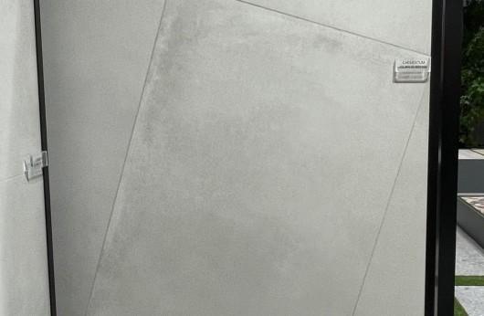 Pavimento in gres porcellanato linea CAEMENTUM bianco