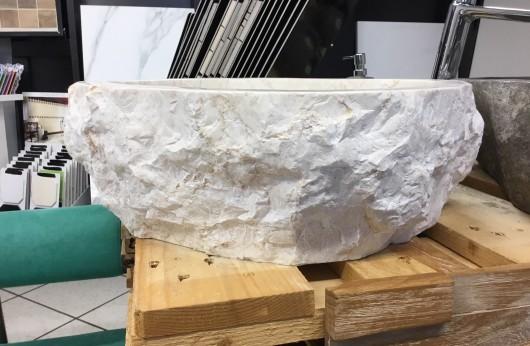 Lavabo pezzo unico in pietra naturale Astratto Beige