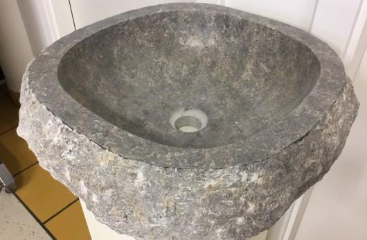Lavabo pezzo unico in pietra naturale Astratto Fumè
