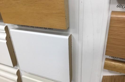 Battiscopa in MDF Laccato Bianco Squadrato