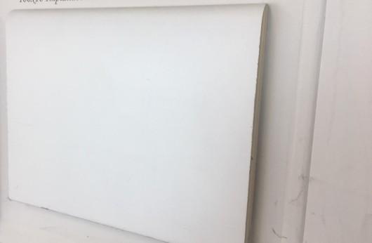 Battiscopa stondato MDF bianco 10 cm di altezza 1 cm spessore