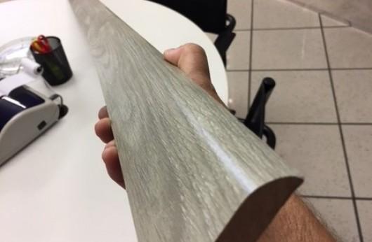 Battiscopa in mdf Grigio effetto legno