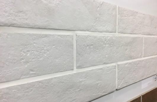 Muretto in gres Bianco Manhattan 7,4x31 rivestimento 1°Scelta