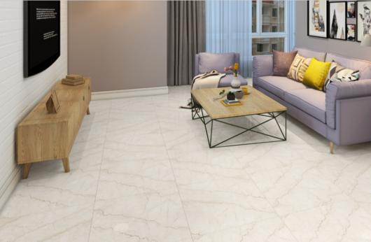 Pavimento in gres porcellanato levigato effetto marmo Botticino 60x60 1°Scelta