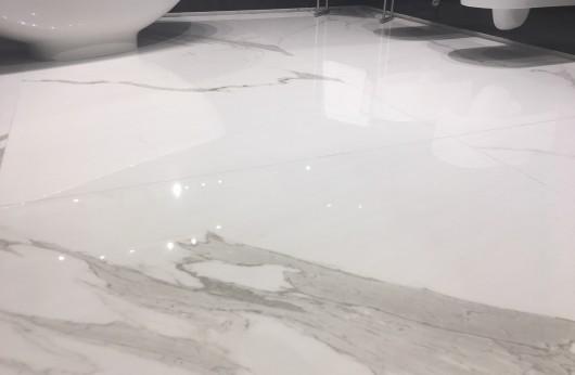 Lastra 5,5 mm di spessore in gres Effetto marmo statuario 1°scelta 60x120