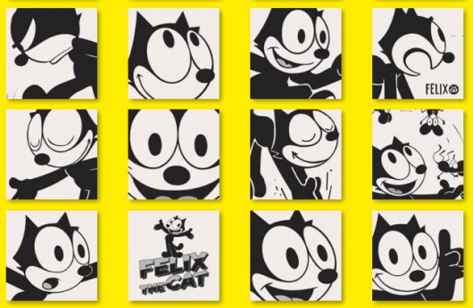 Decoro Felix The Cat Black&White 20x20