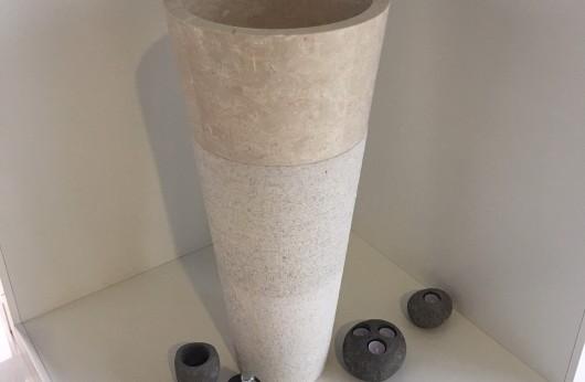 Lavabo in marmo Beige Conico