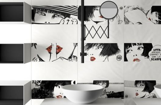Serie VALENTINA By Guido Crepax rivestimento Bianco