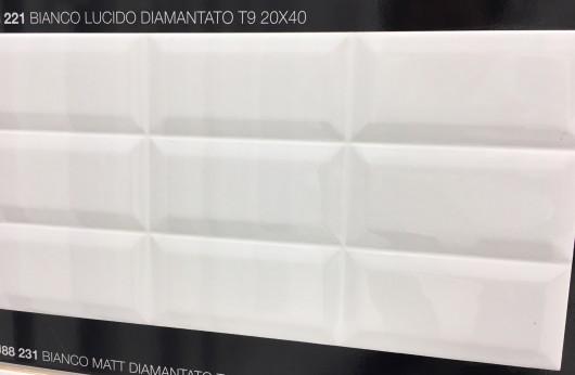 Rivestimento Bianco Diamantato 20x40 lucido