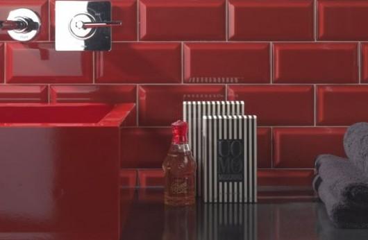 Rivestimento Rosso diamantato lucido 7,5x15
