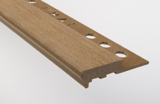 Gradino stondato grip legno marron barra da 2,5 m
