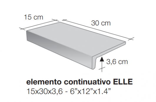 Elemento a elle monolitico Saxum Beige 1°Scelta