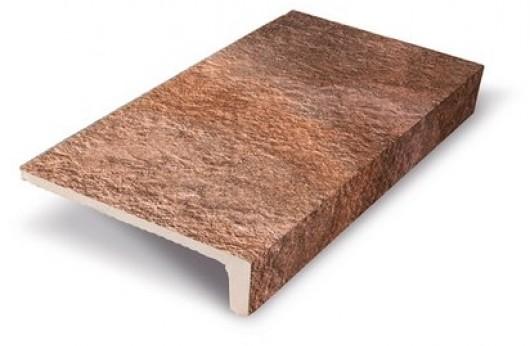 Elemento a elle monolitico Saxum Rosso 1°Scelta