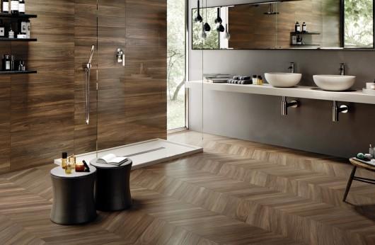 Pavimento in gres porcellanato effetto legno 15x90 Sleek Wood emilceramica