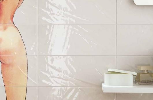 Serie Milo Manara Le stanze del desiderio rivestimento Bianco 20x50