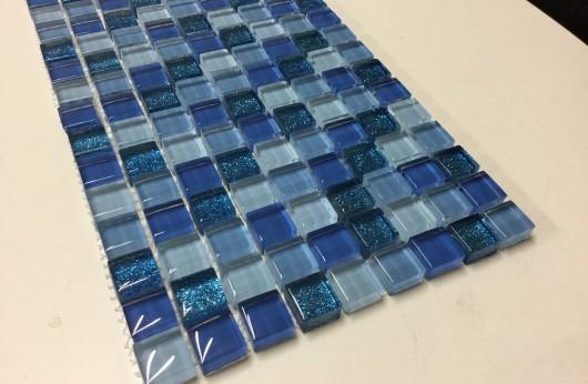 Mosaico glitter blu 1,5x1,5
