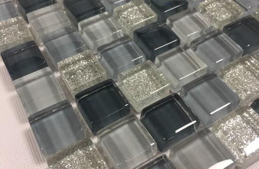 Mosaico glitter grigio 1,5x1,5