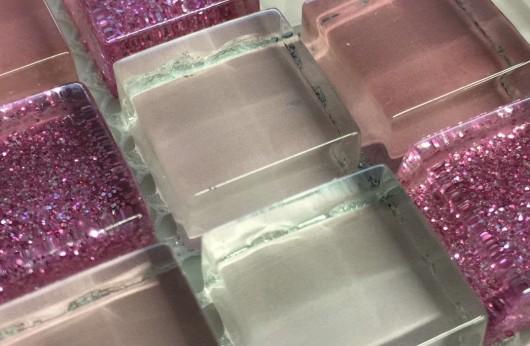 Mosaico glitter rosa 1,5x1,5