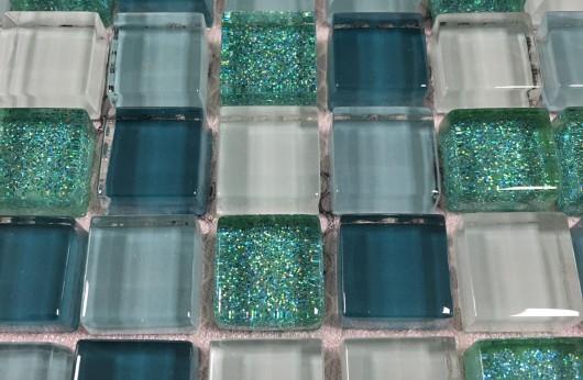 Mosaico glitter verde 1,5x1,5