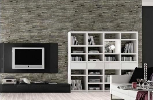 Muretto quarzite nero 31x62 rivestimento gres