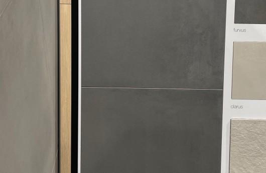 Pavimento in gres porcellanato linea CAEMENTUM grigio scuro