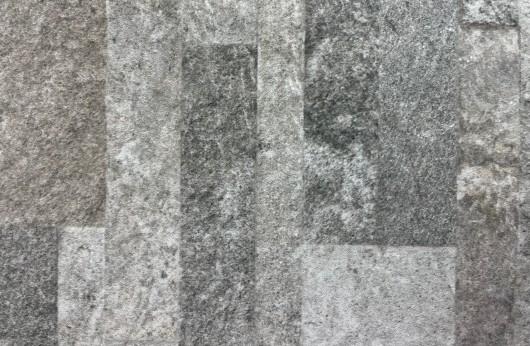 Rivestimento in gres porcellanato sassolato muretto GRIGIO