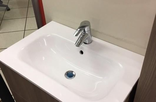 Mobiletto bagno Tortora kit lavandino, colonna e specchio