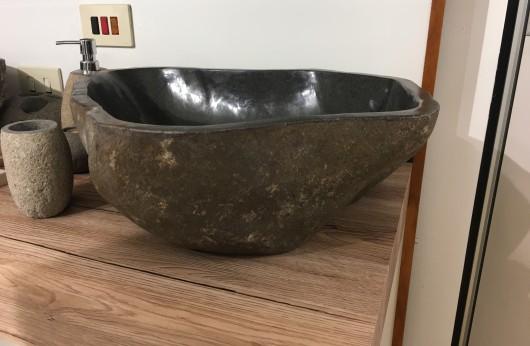 Lavabo pezzo unico quarzite grigio