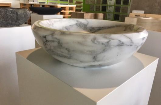 Lavabo Tondo Statuario Apuano in Marmo Italiano