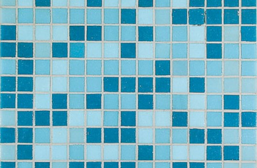 Mosaico azzurro mix blu 2x2
