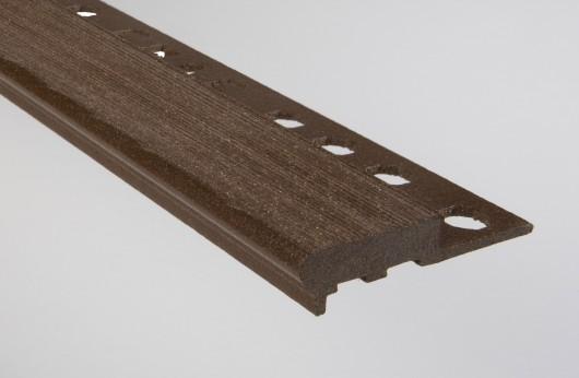 Gradino stondato grip legno marron scuro barra da 2,5 m