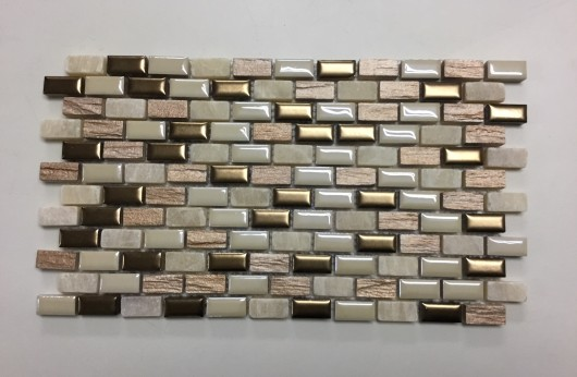 Mosaico Mini Brick Almond