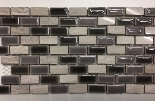 Mosaico Mini Brick Grigio