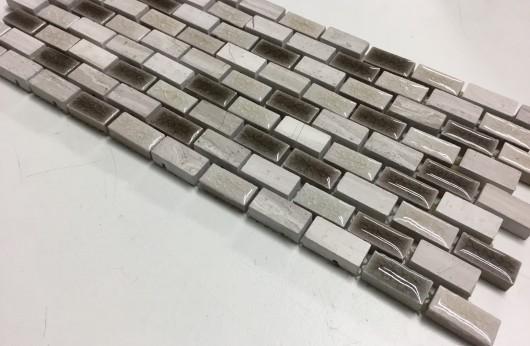 Mosaico Mini Brick Tortora Ambra