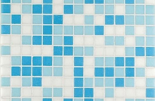 Mosaico mix azzurro cielo 2x2
