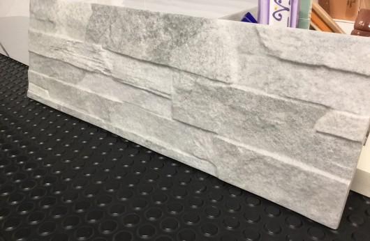 Muretto in gres effetto pietra naturale Saturn Grey 17x52