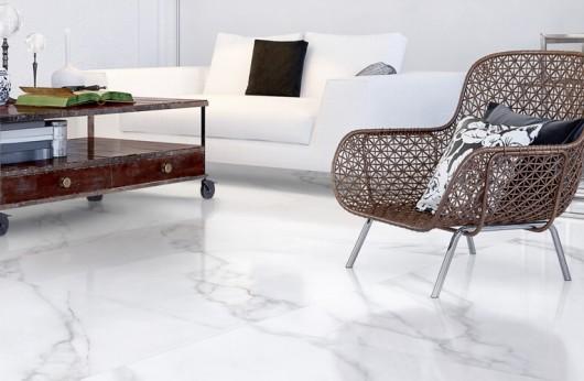 Pavimento in Gres porcellanato Statuario opaco effetto marmo