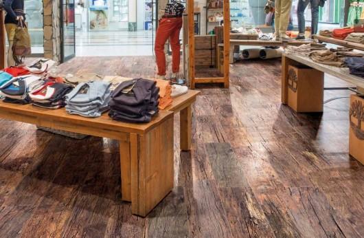 Pavimento Country Rosso effetto legno