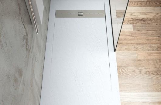 Piatto Doccia in marmo resina Pietra Bianco
