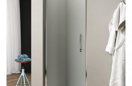 Box doccia Porta a battente apertura 180° cristallo trasparente
