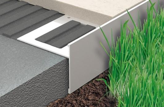 Profilo alluminio per gres da 2 cm