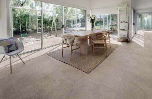 Pavimento in gres porcellanato Realstone Grigio 60x120.