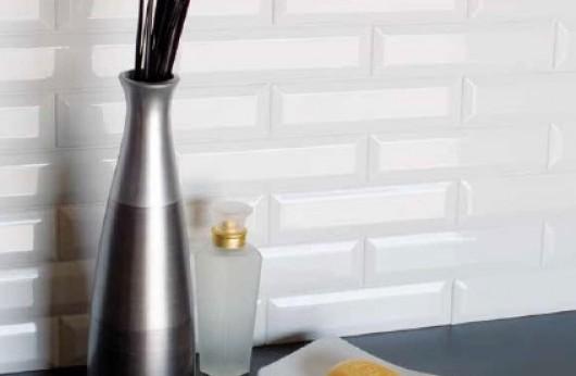 Rivestimento Bianco diamantato lucido 7,5x15