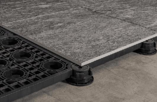 Pavimento galleggiante in gres Scout Fog 60x60