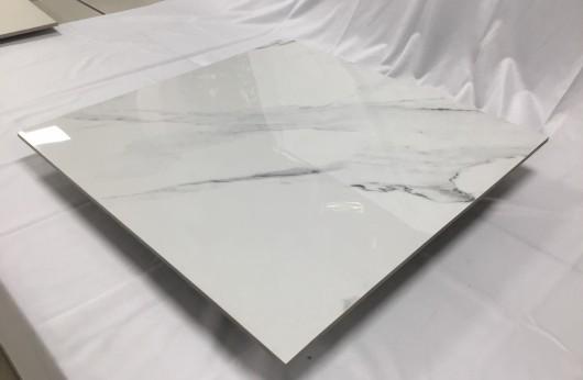 Pavimento in gres porcellanato levigato Statuario effetto marmo lucido 1°Scelta