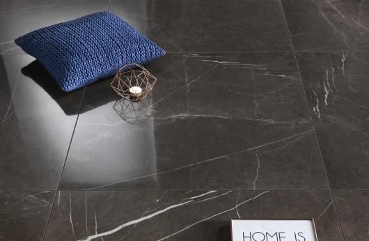 Pavimento in gres porcellanato effetto marmo Stone Grey 1°Scelta lucido