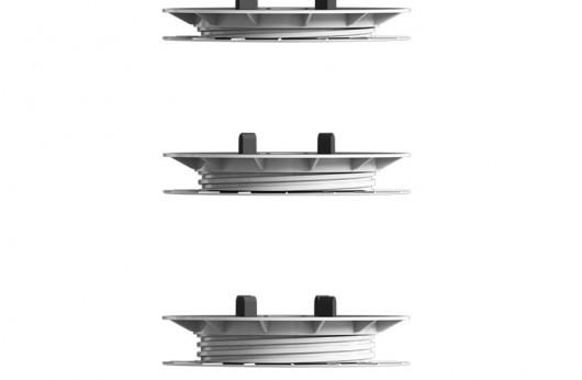Supporto mini king per gres 2cm con base di gomma e testa regolabile oscillante