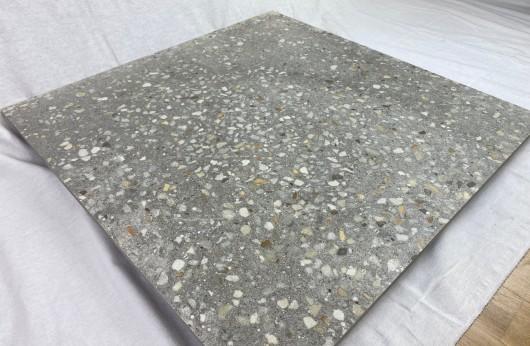 Pavimento in gres porcellanato Terrazzo Grigio 60x60 rettificato